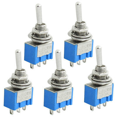 5 Pcs 3 Terminals SPDT On Off On Toggle Switches AC 125V 6A