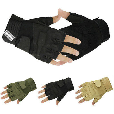 Motorcycle Cycling Half Finger Outdoor Sports Military Tactical Hunting Gloves