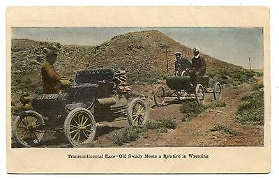 Transcontinental Race-Old Sleady Meets A Relative In Wyoming.course