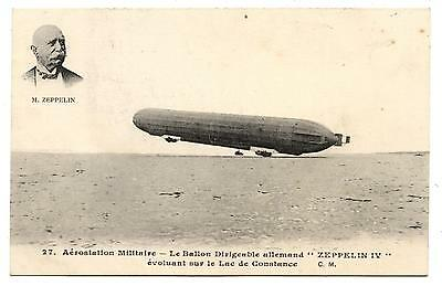 German Military Airship Zeppelin.lac De Constance Lake.dirigeable Militaire.