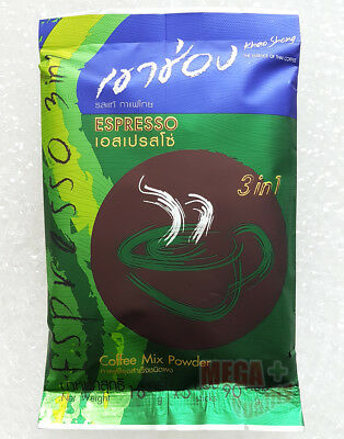 Khao Shong Thai Instant Coffee Mix Powder 3 In 1 Espresso