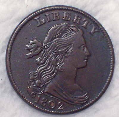 1802 Draped Bust LARGE Cent AU Detailing RARE S-231 Variety Smooth Brown Tone 1C