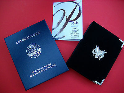 U.S. Mint Display Case, COA, and Box Only - Platinum Eagle Proof (2007)