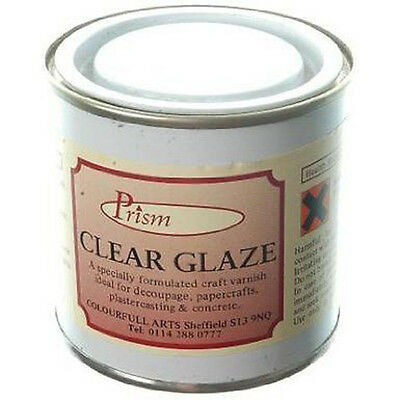 Loxley Prism Clear Glaze - 250ml - Gloss Varnish - Decoupage Concrete Plaster