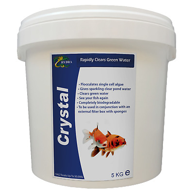 Single-Celled Algae Treatment HYDRA CRYSTAL 5KG Remove Pond Green Water/Pea Soup