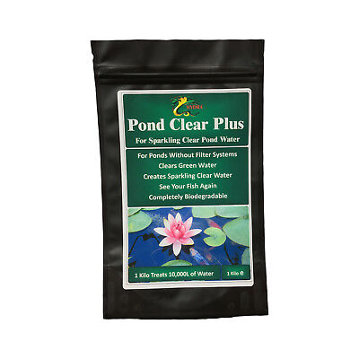 Clear Green Water in Garden Pond HYDRA POND CLEAR PLUS 1Kg Green Water Treatment