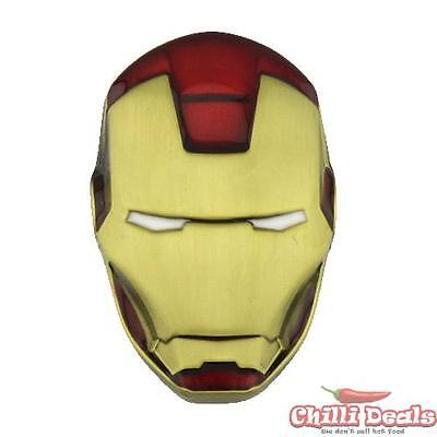 Marvel comics 3D IRON MAN Helmet style men's metal/steel Ironman Belt Buckle