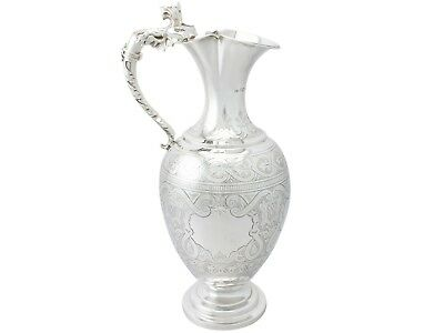 Sterling Silver Wine Ewer by Charles Boyton II - Antique Victorian