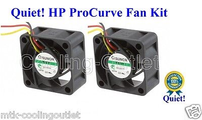 Quiet! HP ProCurve 2626 2650 2724 Replacement Fan Kit; 2x new Sunon fans