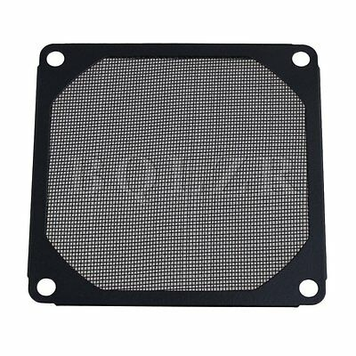 Black 80 x 80mm PC Computer Chassis Fan Dustproof Filter Mesh Metal Strainer