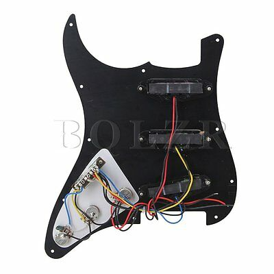 Black Loaded Pickguard 3 Single Coil for Electric Guitar