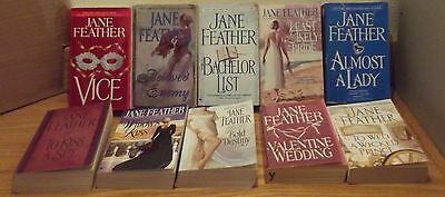 JANE FEATHER lot of 10 PBs VICE Bold Destiny BACHELOR LIST Beloved Enemy MORE