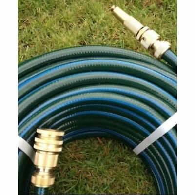 "Garden Water Hose Rubber 50M Double Walls 12MM-1/2"" Brass Fittings 9/10 KinkFree"