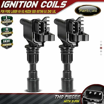 2x Ignition Coils for Ford Laser KN KQ 1.6L & Mazda 323 Astina BJ ZMD 1.6L 98-03