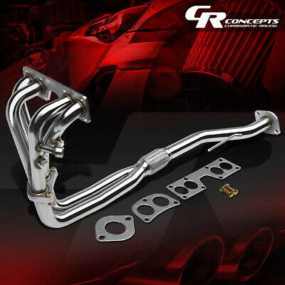 For 00-02 Sentra 1.8 B15 Stainless Flex Exhaust Pipe Manifold Header+Gasket/bolt