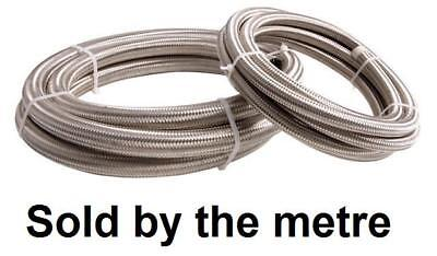 "6mm 1/4"" Fuel System Braided Stainless Steel Hose Reinforced Cord Quality Rubber"