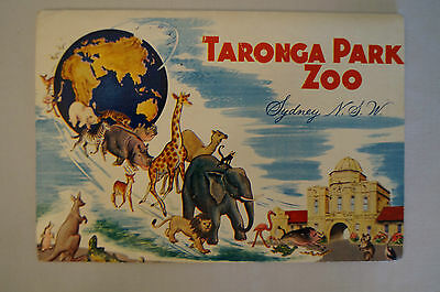 Taronga Park Zoo -Vintage -Collectable -13 Photo Sheet Folding Card-3 shill Adm.