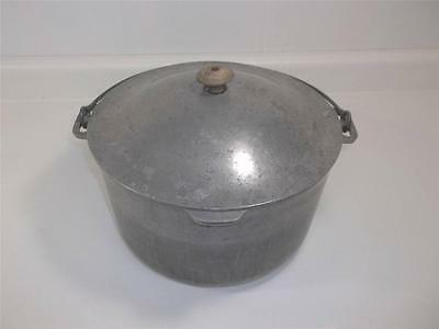Super Maid Cookware Lg Aluminum Clad Roaster Pot Pan Lid Handle Vtg Dutch Oven