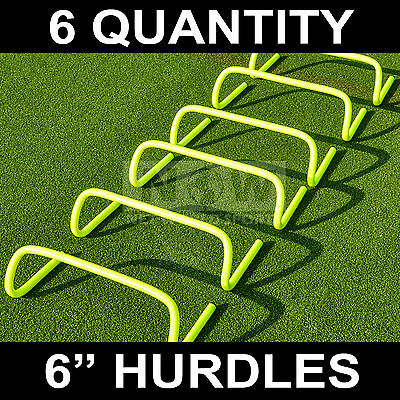"""6 qty. AGILITY HURDLES 6"""" Football Rugby Speed Training [Net World Sports]"""