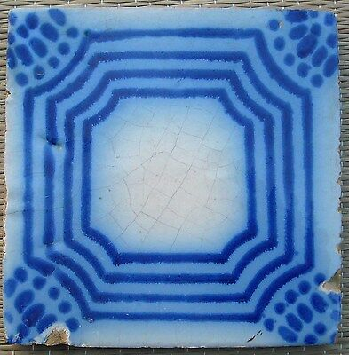 FRANCE ANTIQUE TILE - PAS DE CALAIS - DESVRES - c1870