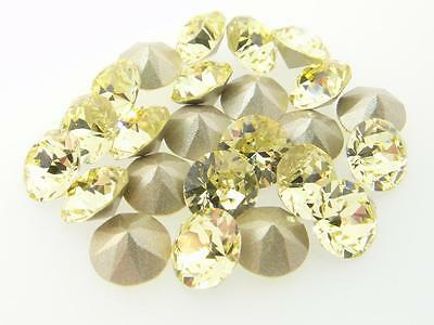 Swarovski Foiled Chatons Art.1088 8.5mm 39ss Jonquil 24 Pieces cc