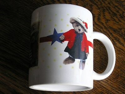 2001 BOYDS Collection Boyds Bears & Friends Patriotic Red White Blue Coffee MUG