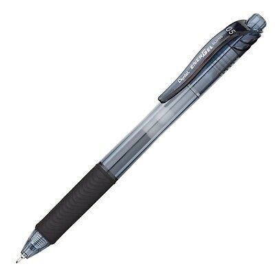 Pentel Knock Gel Ballpoint Pen Energel X, 0.5mm Needle Tip, Black Ink (BLN105-A)