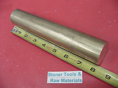 "1-1/2"" C360 BRASS ROUND ROD 8"" long Solid 1.500"" OD H02 Lathe Bar Stock"