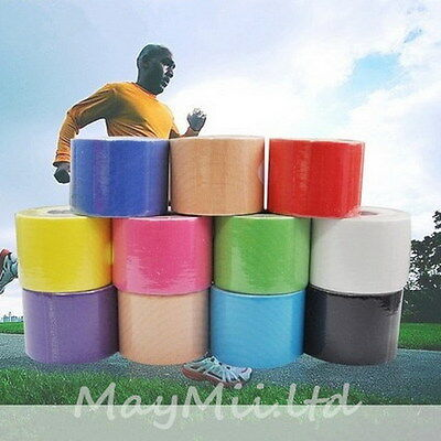 S 5m x 5cm Kinesiology Sports Muscle Care Elastic Physio Therapeutic Tape 1 Roll