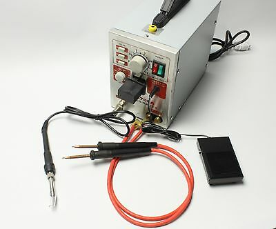 2-In-1 1.5KW Spot Welder Soldering Micro-computer Pedal control battery 220V