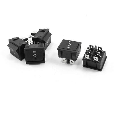 5 Pcs DPDT On-Off-On Three Position Snap in Rocker Switch 6A 250VAC 10A 125VAC