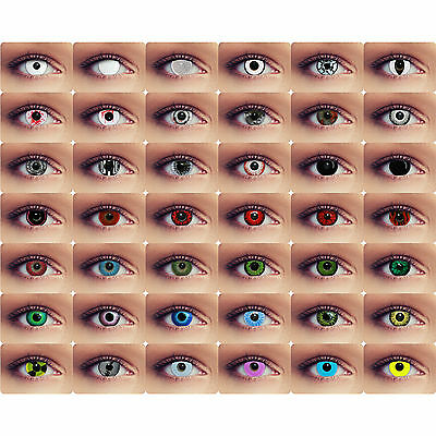 Crazy colored contacts vampire zombie lenses for halloween costume sclera lenses