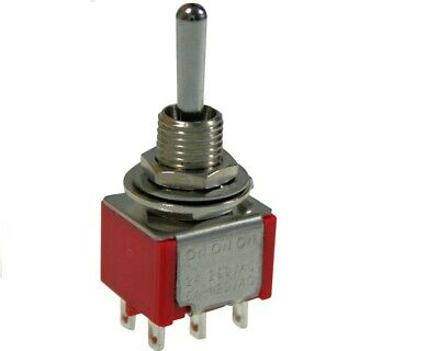 Mini Toggle Switch Tyco Dpdt On-On-On For Phase Switching And Coil Tapping