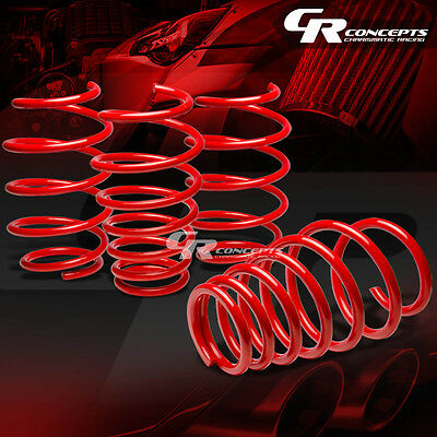 For 07-11 Toyota Camry Xv40 Coil Suspension Red Racing Lowering Springs