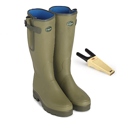 Le Chameau Vierzonord Mens Neoprene Lined Rubber Boots. Free Boot Jack & Bag