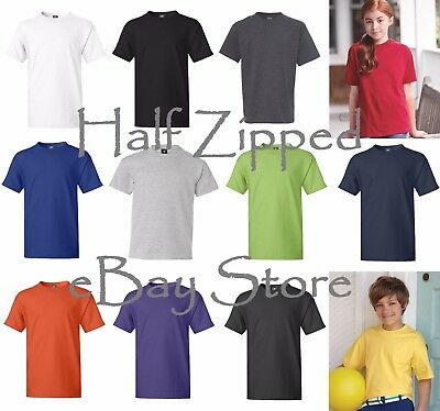 Hanes Youth Beefy-T T-Shirt 5380 XS-L Short Sleeve Tee