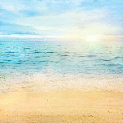 Tropical Beach 10'x10' CP Backdrop Computer printed Scenic Background XLX-459