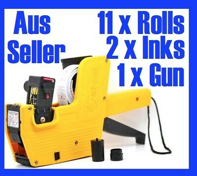 Price Pricing Gun Labeller 11xFREE Roll Label Spare Ink