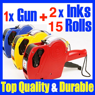 Price Pricing Gun Labeller 15xFREE Rolls Label SpareInk