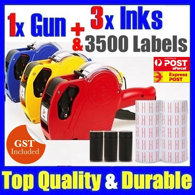 Price Pricing Gun Labeller +14 Rolls Labels + 3 Inks