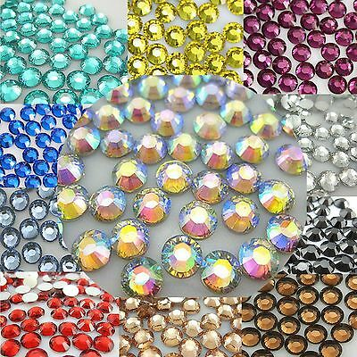 1000-10000pcs 3mm-6mm 14 Facets Resin Rhinestone Flatback Multiple Color Crystal