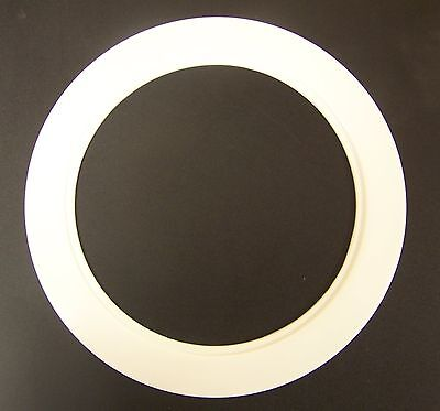 "Plastic White Light Trim Ring Recessed Can 6"" Inch Oversized Lighting Fixture"