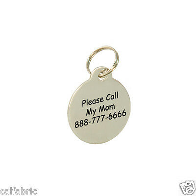 Double Sides Custom Personalized Engraved Stainless Steel Dog Tag Cat Tag Pet ID