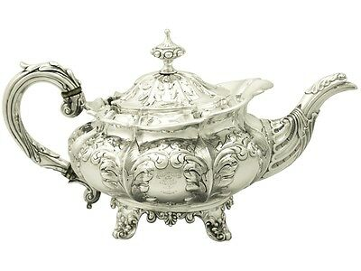 Sterling Silver Teapot by Joseph Angell I & John Angell I - Antique William IV