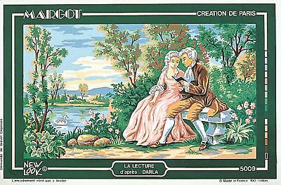 Margot de Paris Tapestry/Needlepoint Canvas - The Lesson (La Lecture)