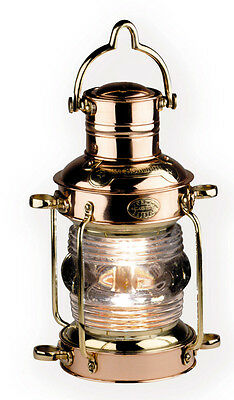 AUTHENTIC MODELS Brass & Copper Anchor Light Nautical Oil Lamp Antique Reproduct