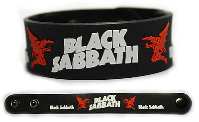 BLACK SABBATH Rubber Bracelet Wristband Paranoid Master of Reality 13