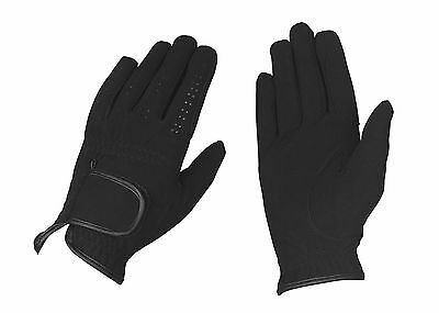 Horse Riding Gloves - Micro Suede - Black