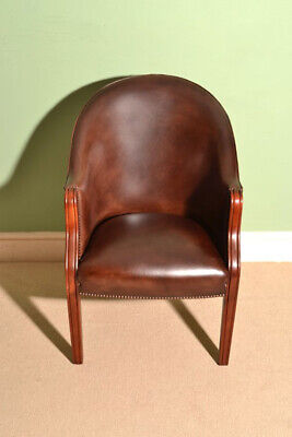 Bespoke English Handmade Leather Desk Chair  Hazel