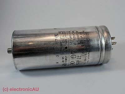 40uF Run Capacitor ICAR P2 Metal/Aluminium 400/450/500V motor air pump fan